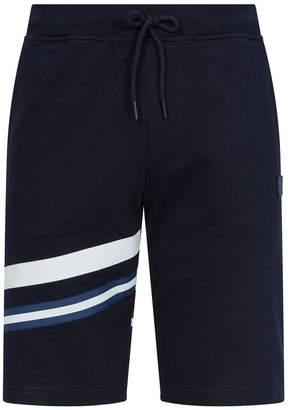 Paul & Shark Cotton Contrast Stripe Sweatshorts