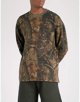 Yeezy Season 5 Wolves cotton-jersey sweatshirt
