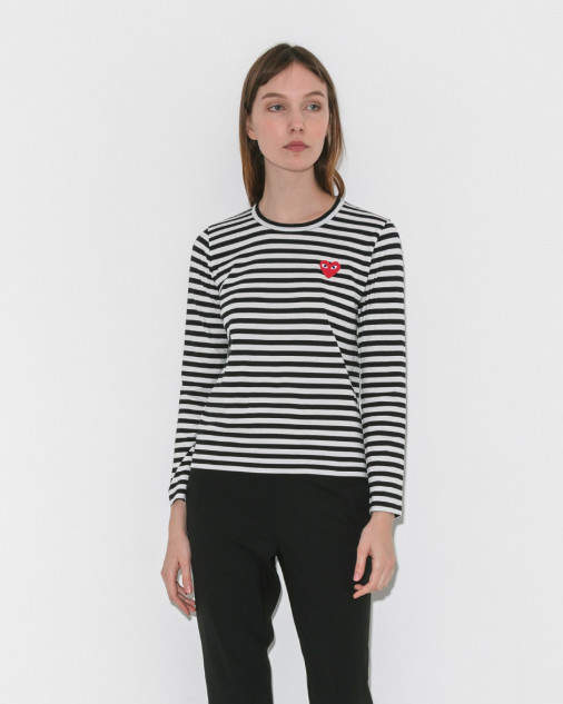 Comme Des Garçons Play Play Striped Long Sleeve