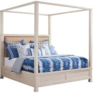 Barclay Butera Shorecliff Canopy Bed - Tan