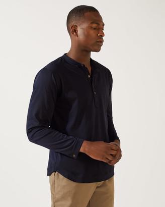 32e049680e83 Jigsaw Jonathan Supima Henley Shirt