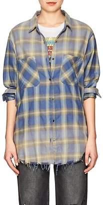 Amiri Women's Plaid Cotton Flannel Shirt