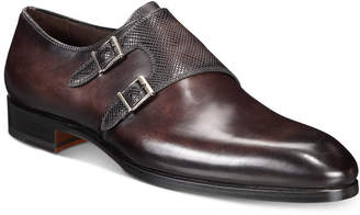 Massimo Emporio Men's Mixed Water Resistant Double-Monk Loafer, Created for Macy's Men's Shoes