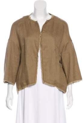 Les Copains Linen-Blend Open-Front Jacket w/ Tags