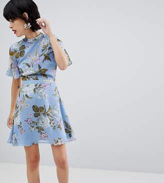 Warehouse Floral Print Tea Dress