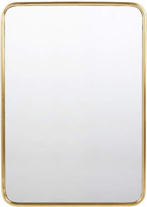 Rejuvenation Rounded Rectangle Metal Framed Mirror