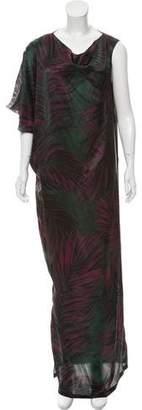 Lanvin Silk Printed Maxi Dress