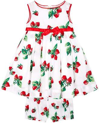 Rachel Riley Strawberry Print Dress And Bloomers