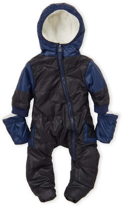 Urban Republic Newborn Boys) Sherpa Lined Hooded Snowsuit