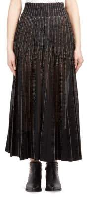 Alexander McQueen Metallic Pleated Maxi Skirt