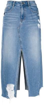 Sjyp cut out denim skirt