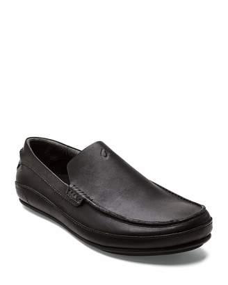 Men's Kulana Leather Slip-On Loafers, Black