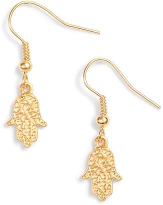 TEN79LA Hamsa Drop Earrings