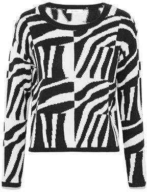 Max Mara Geremia Intarsia Silk And Cashmere-Blend Sweater