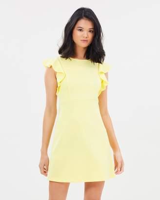 Miss Selfridge A-Line Frill Sleeve Dress
