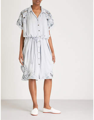 Free People Cut It Out woven shirt dress