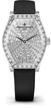Vacheron Constantin Malte 81610/000G-B007 18K White Gold & Satin with Diamond Pave Dial 29.30mm Womens Watch