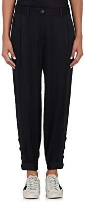Nili Lotan Women's Bertina Hammered-Satin Trousers