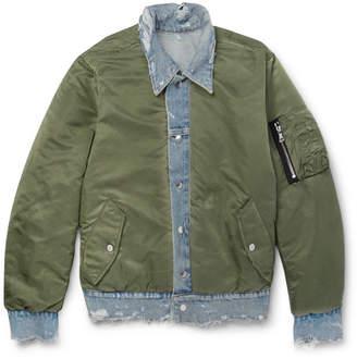 Amiri Reversible Denim And Shell Jacket