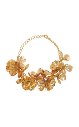 Balmain Gold Mini Rose Necklace