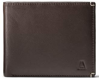 Leather Architect Men's 100% Leather RFID Blocking Bifold Wallet with Fixed ID And 15 Credit Card Slots