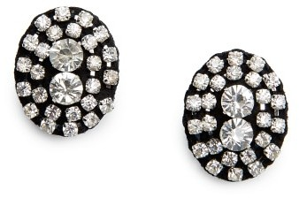 MANGO Outlet Rhinestone Felt Earrings