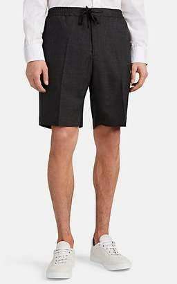 Officine Generale Men's Phil Worsted Wool Drawstring Shorts - Gray