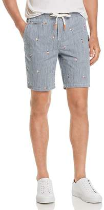 Superdry Sun-Scorched Embroidered Pinstripe Slim Fit Shorts