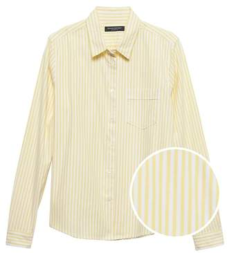 Banana Republic Petite Quinn-Fit Stripe Oxford Shirt