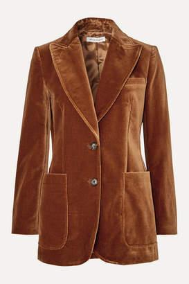 Bella Freud Saint James Wool-velvet Blazer - Camel