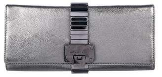 Michael Kors Metallic Leather Clutch