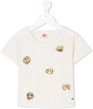 American Outfitters Kids sequinned smiley face T-shirt
