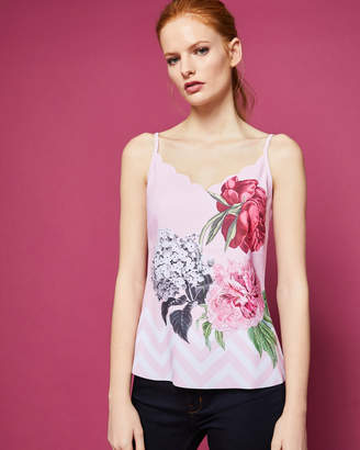 Ted Baker SARAI Palace Gardens scalloped cami