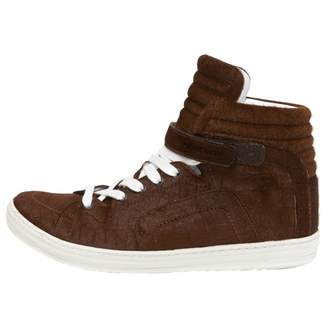Pierre Hardy Brown Pony-style calfskin Trainers
