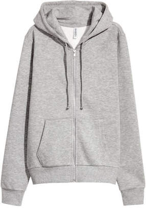 H&M Hooded Sweatshirt Jacket - Gray