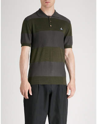 Vivienne Westwood Striped wool polo shirt