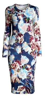 Prabal Gurung Floral-Print Jersey Bodycon Dress