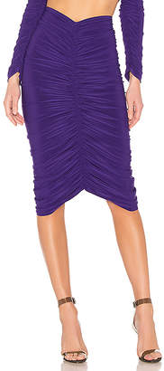 Norma Kamali X REVOLVE Shirred Skirt to Knee
