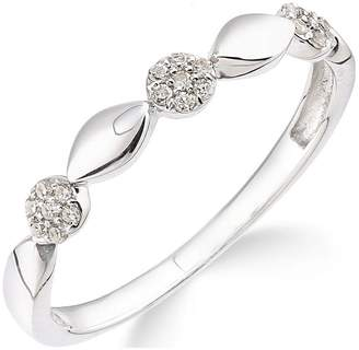 Love GOLD 9ct White Gold 10 Point Diamond Commitment Ring