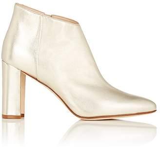 Manolo Blahnik Women's Brusta Metallic Leather Ankle Boots