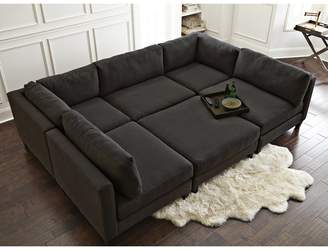 Home by Sean & Catherine Lowe Chelsea Reversible Sleeper Sectional with Ottoman