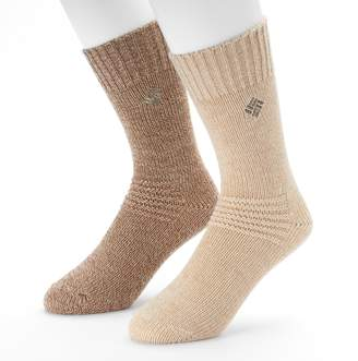 Columbia Extended Size 2-pack Brushed Fleece Crew Socks
