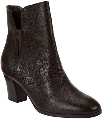 Isaac Mizrahi Live! Leather Booties with Goring