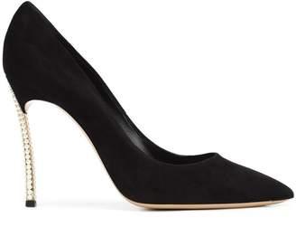 Casadei faux pearl high heel pumps