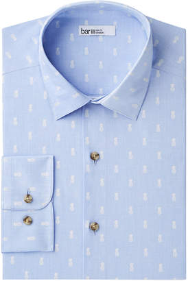 Bar III Men's Slim-Fit Stretch Easy-Care Pineapple Print Dress Shirt