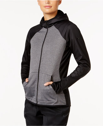 Nike All Time Therma Dri-FIT Full-Zip Training Hoodie $85 thestylecure.com