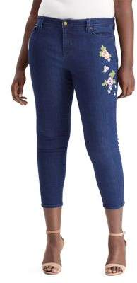 Lauren Ralph Lauren Plus Premier Skinny Cropped Jeans