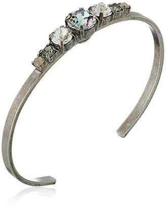 Sorrelli Lotus Petite Round Crystal Cuff Bracelet