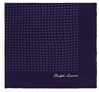 Ralph Lauren Purple Label Men's Diamond-Dot Silk Crepe Pocket Square