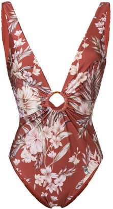 Zimmermann Wayfarer floral swimsuit